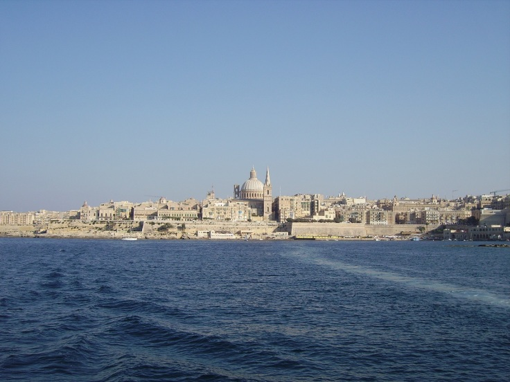 Malta Valletta Summer View from Boat